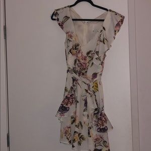 Leith SS Ruffle Floral Dress